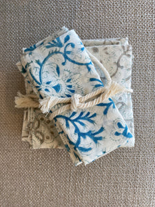 Block Print Organic Cotton Napkins