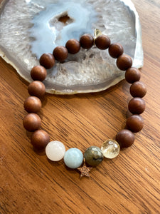 Prosperity Intention Bracelet With Rose Gold Star
