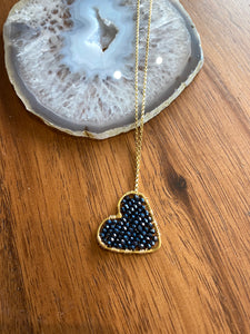 Slate Love Drop Necklace