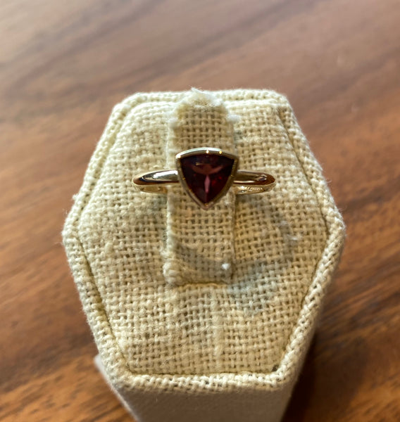 Triangle Shaped Garnet Ring