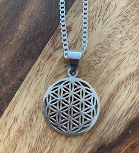 Flower of Life Small Silver Pendant