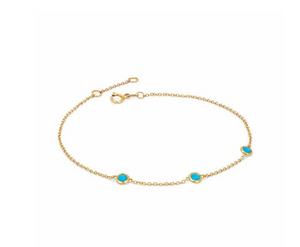 3 Turquoise Orbit Bezel Logan Hollowell Bracelet