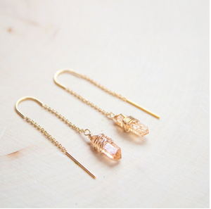 Topaz Threader Earrings