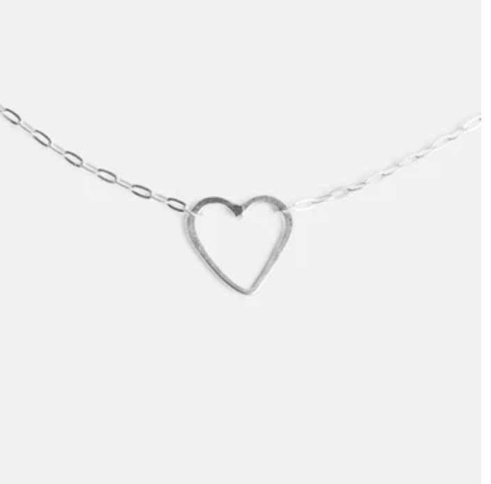 Silver Sweetheart Necklace