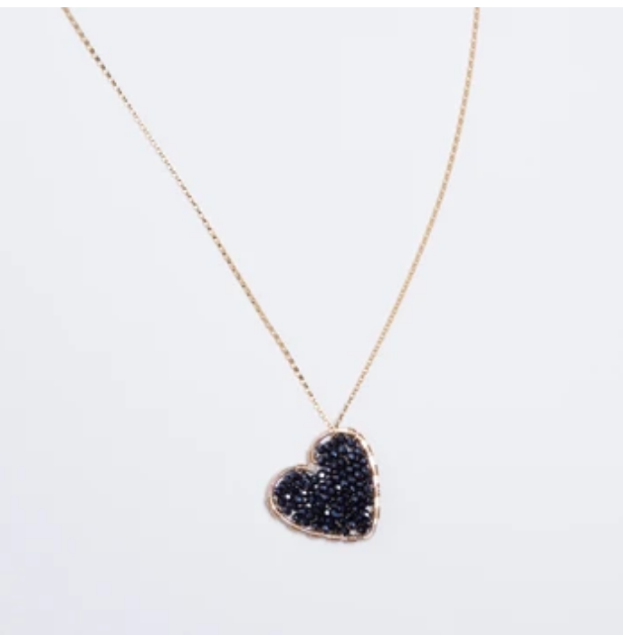 Midnight Love Drop Necklace