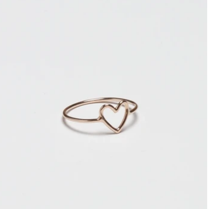 Small Gold Heart Ring