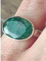 Brass Green Onyx Ring