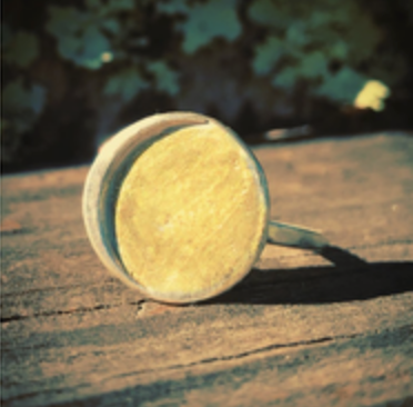 Sun and Moon Ring with Gold Wash