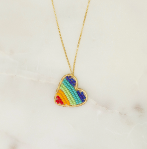 Gold Love is Love Drop necklace