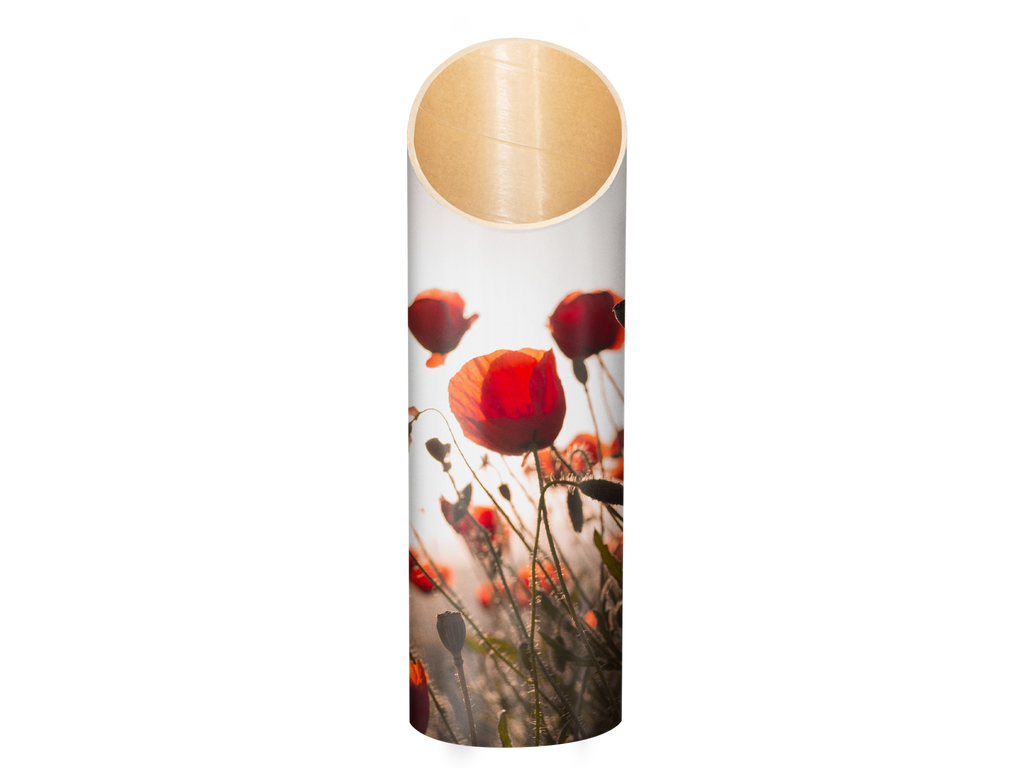 yoga stand poppies pattern