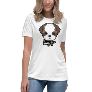 Women's 'I Shih Tzu Not' Relaxed T-Shirt