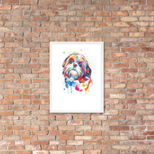 Load image into Gallery viewer, Framed poster Shih Tzu art
