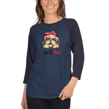 Load image into Gallery viewer, Shih Tzu Mom 3/4 sleeve raglan shirt