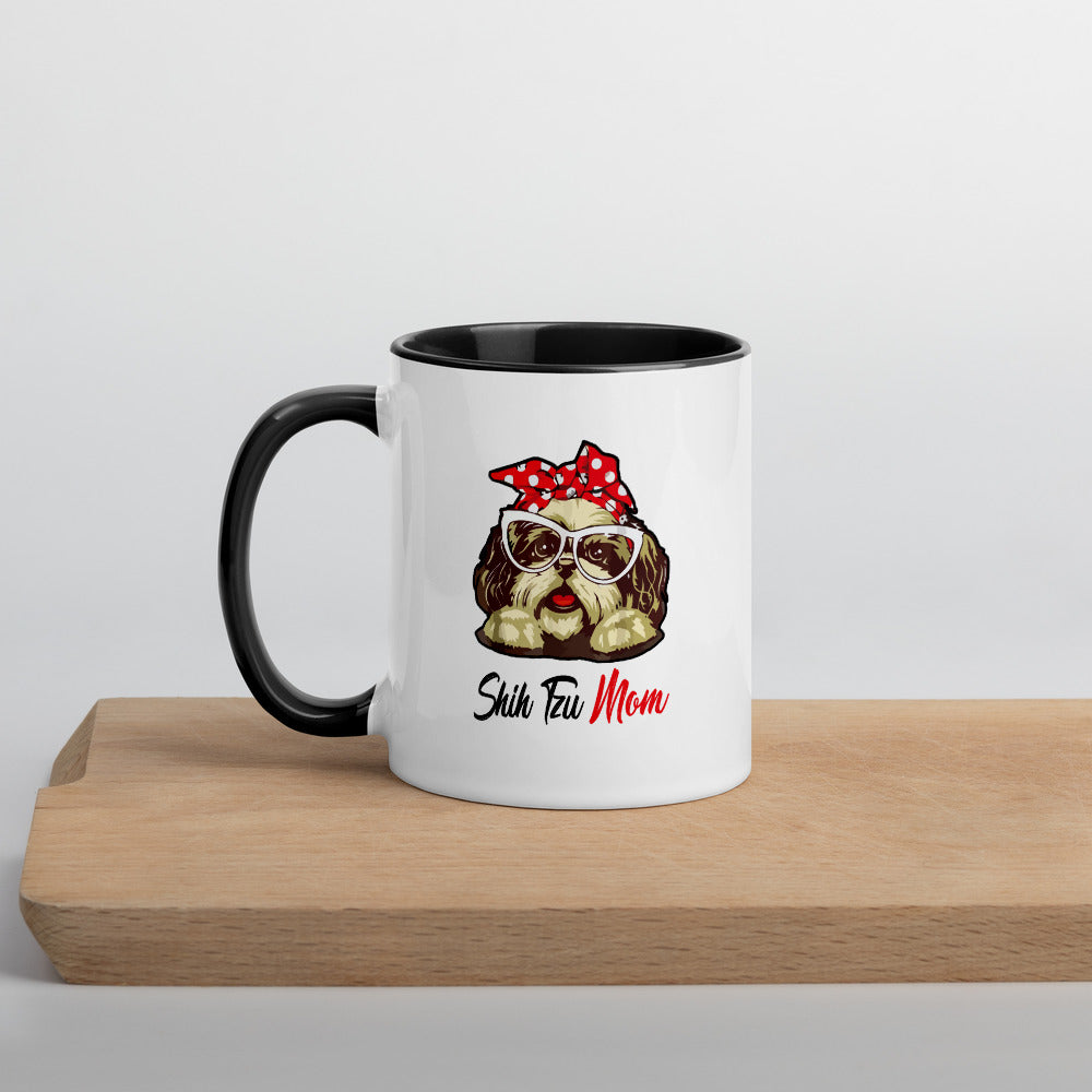 Shih Tzu Mom Coffee Mug with Color Inside