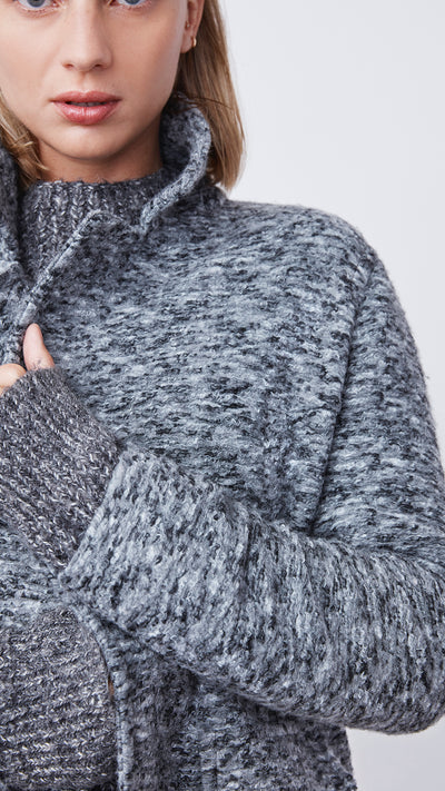 Textured Soft Coat in Charcoal - Women's Apparel | b New York