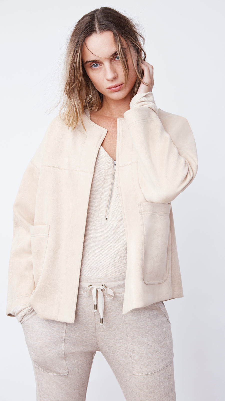Sophisticated Beige Short Jacket by b new york