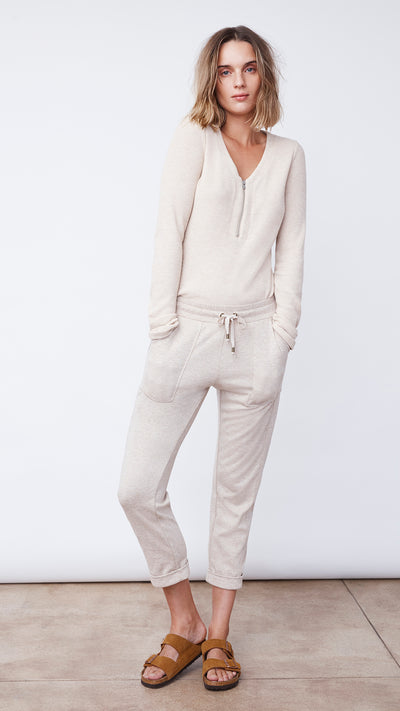 Recycled Crop Pant in Sandstone Heather - Women's Apparel | b New York