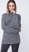 Black Funnel Neck Sweater for Eco-Friendly Women by b new york