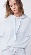 Women's Textured Hoodie in Blue by b new york
