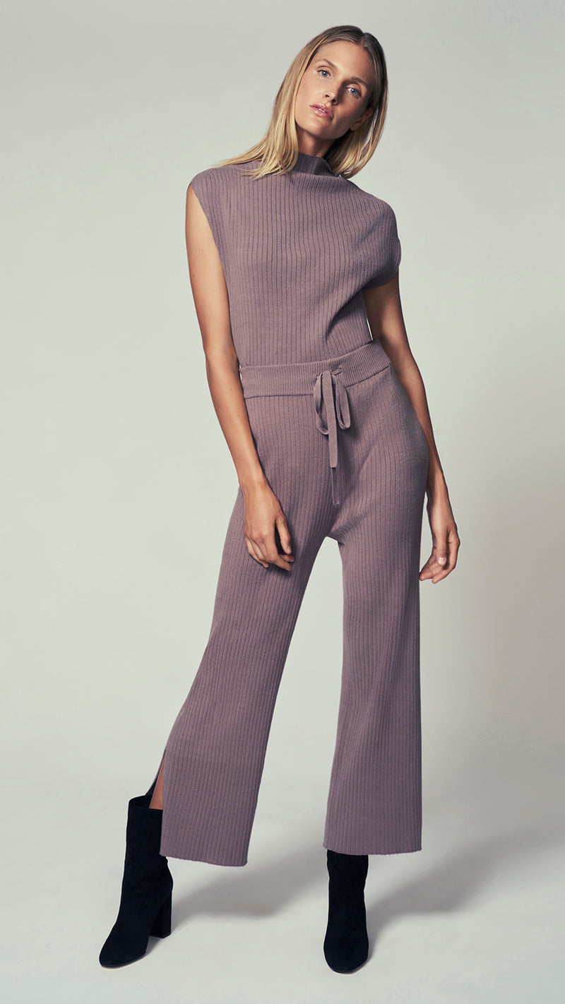 Drawstring Ribbed Pant