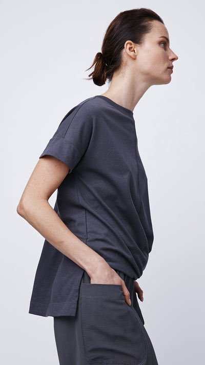 Women's Eco-Friendly Short Sleeve Cross Front Top by b new york