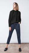 Textured Easy Hoodie in Black - Women's Apparel | b New York