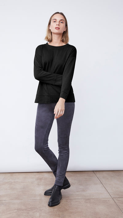 Women's Modern Hi Lo Blouse in Black by b new york