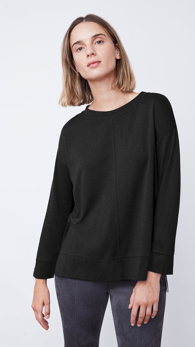 Women's Hi-Low Blouse in Black by b new york