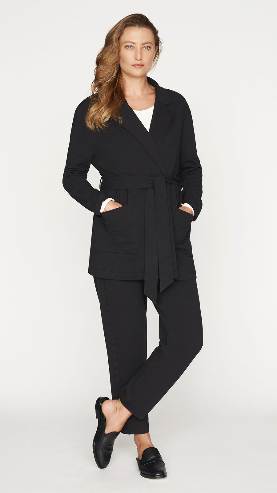 Notch Collar Wrap Jacket