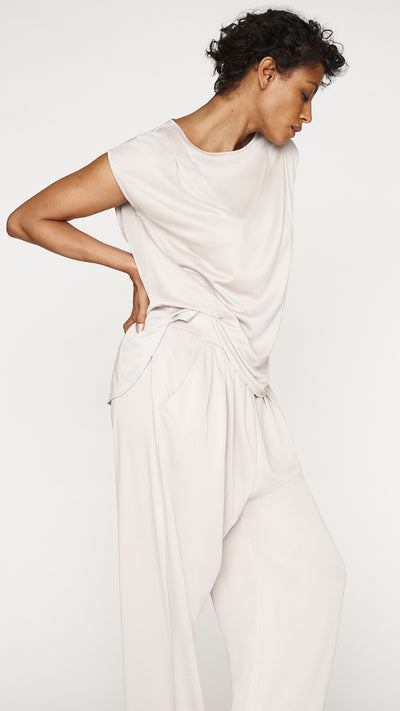 Shoulder Pleat Extended Shoulder Top