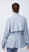 Women's Oversized Jacket in Light Blue by b new york