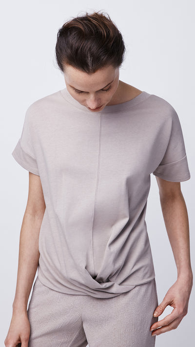 Short-Sleeve Cross Front Top