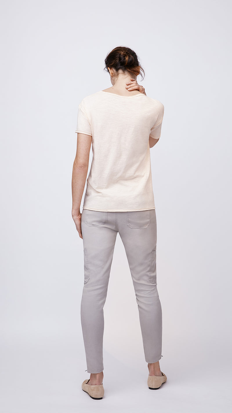 Eco-Friendly V-Neck Pink Basic Tee by b new york