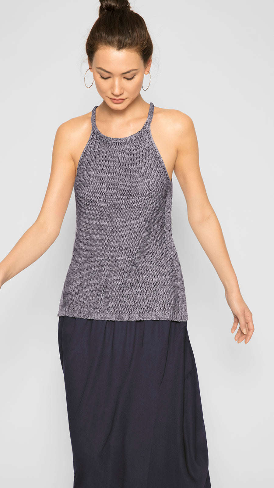 Organic Halter Knit Top