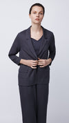 Front View of the Women's Crossover Back Blazer by b new york