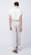 Slit Wide Leg Cropped Pant in Cashew - Women's Apparel | b New York