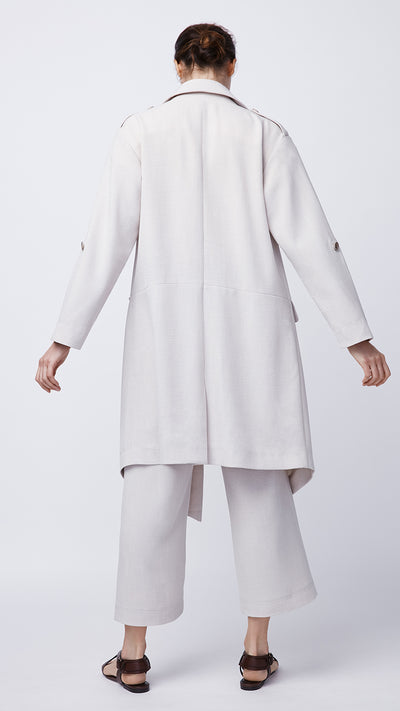 Roll Sleeve Trench Coat in Cashew - Women's Apparel | b New York