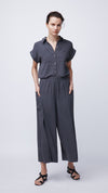 Front View of Wide Leg Pants by Eco-Friendly b New York