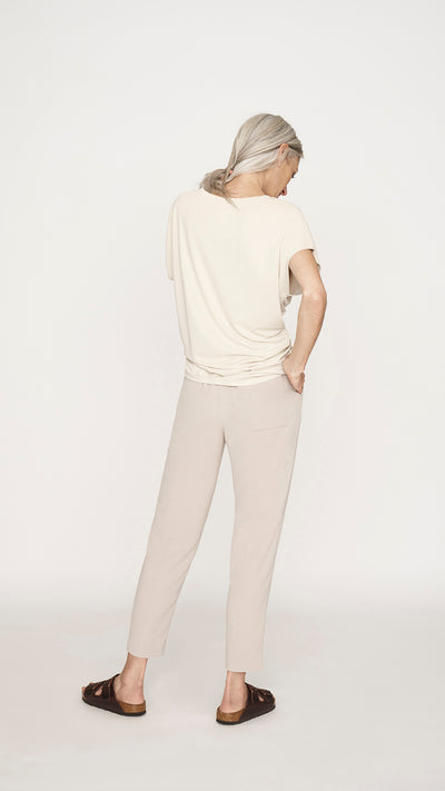Natural Ruched Top