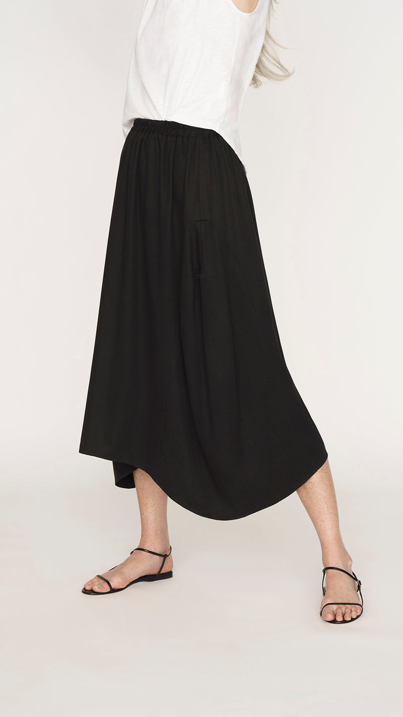 Cocoon Paneled Skirt