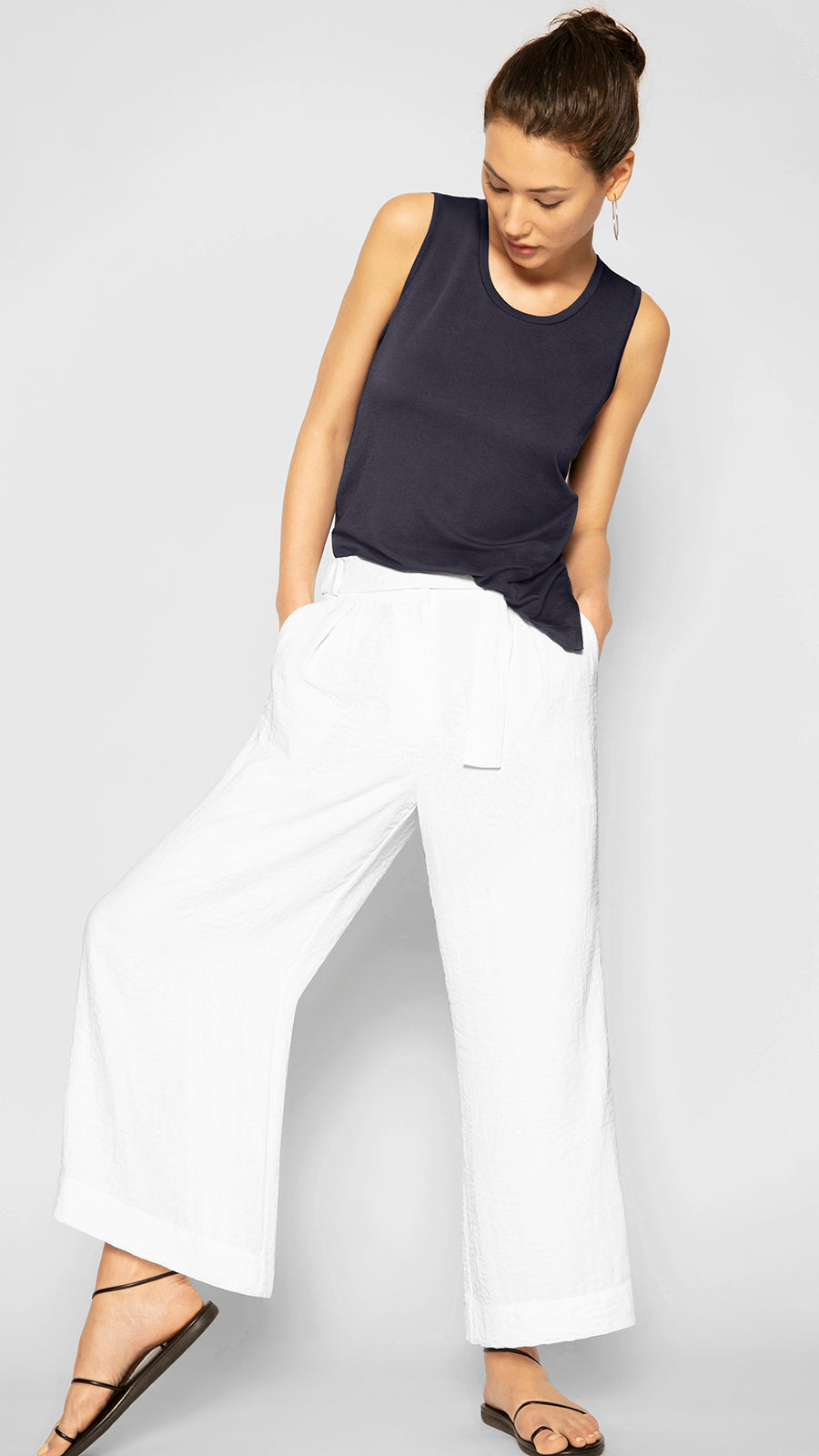Wide Leg Belted Pant