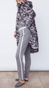 Women's Grey Sweatpants with White Side Stripe by b new york