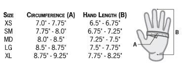 Stohlquist Contact Glove Size Chart
