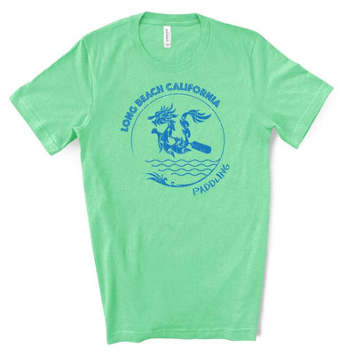 Dragon Paddling Waves | Unisex Tee (More Colors)