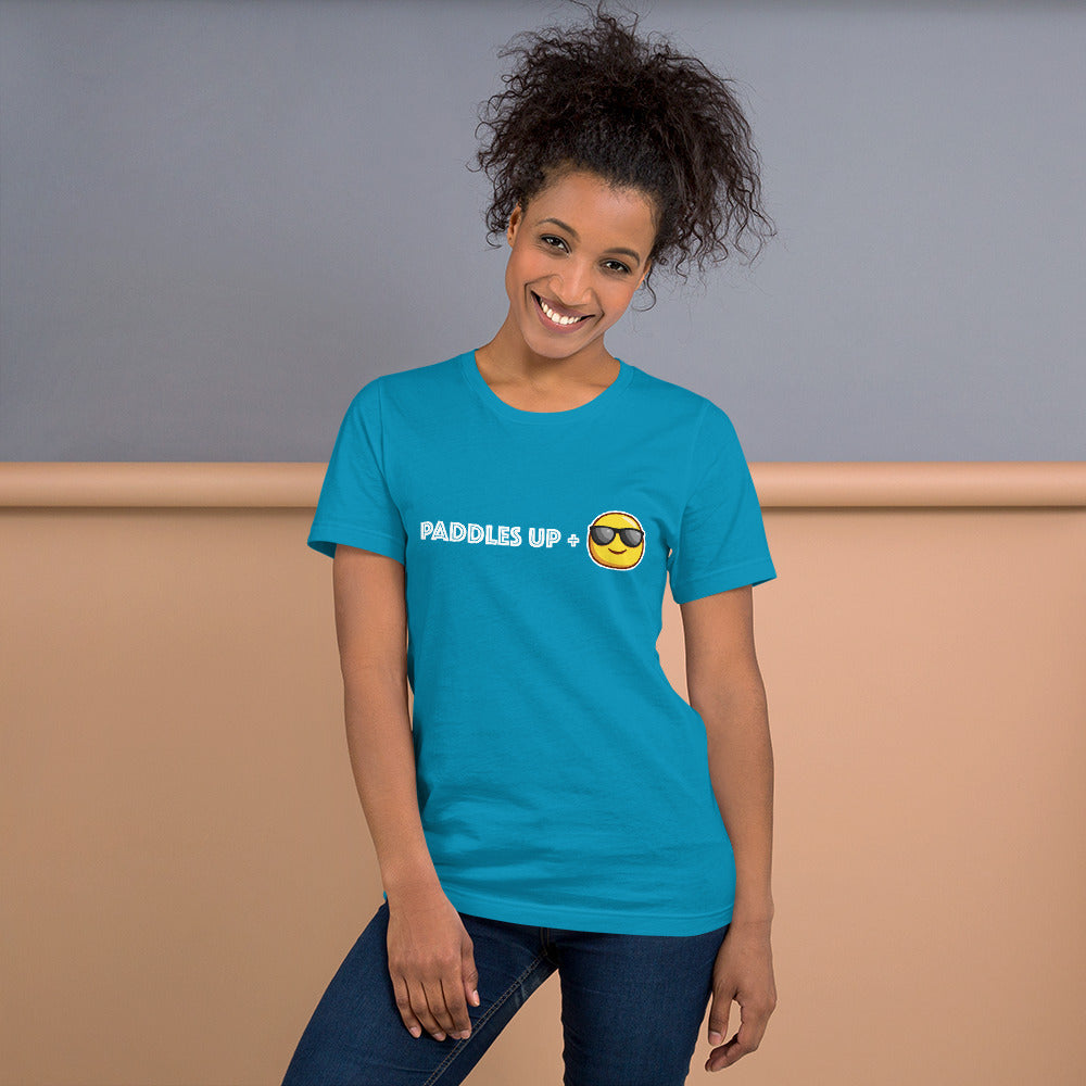 """Paddles Up + Smile"" Short-Sleeve Unisex T-Shirt"