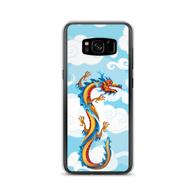 Samsung Multicolor Dragon with Blue Sky & Clouds Phone Case Phone Case // Galaxy S9 & S8