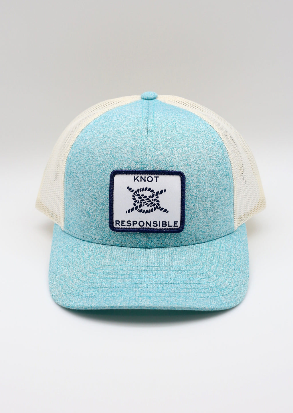 Low Pro Trucker Hat- Heather Teal
