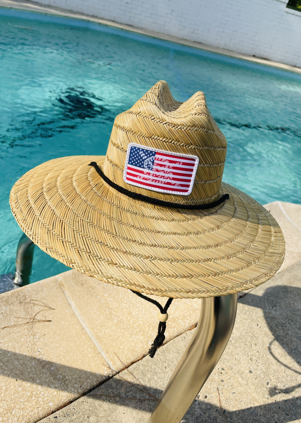 USA Island Time Straw Hat
