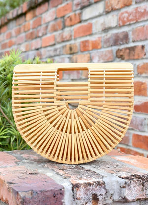 Hadley Wooden Straw Clutch
