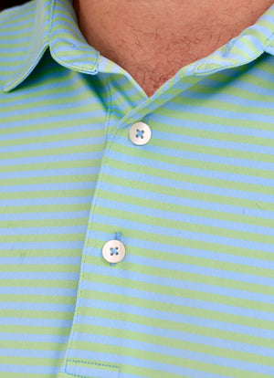 Little Harbor Tone on Tone Performance Polo - Whale Pass